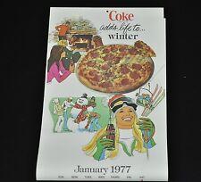 Bel vecchio Coca-Cola Calendario 1977 USA Coca Cola calendario