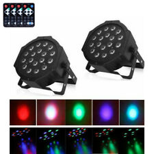 2Pcs RGB 18-LED Stage Lighting PAR38 DMX-512 DMX Projector Party DJ Disco Lights