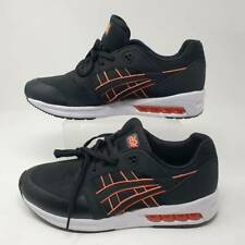 ASICS Womens Gel Saga Sou Running Shoes Black 1192A097 Lace Up Leather 10 New