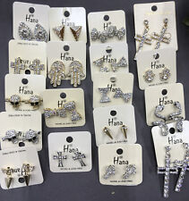 Wholesale high quality Jewelry lot 10 pairs crystal rhinestone stud Earrings