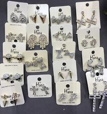 pairs crystal rhinestone stud Earrings Wholesale high quality Jewelry lot 10