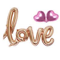 1 Set Love Letters Heart Aluminum Foil Balloon Birthday Wedding Party Decoration