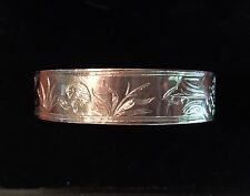 Antique Victorian Sterling Silver Bangle Bracelet c1880 Estate Piece