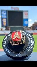 1991 Atlanta Braves NLCS Championship Replica Ring SGA Turner Field 2016 7/30/16