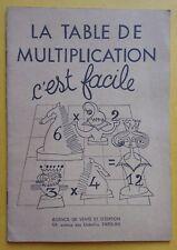 § scolaire ancien la table de multiplication c'est facile
