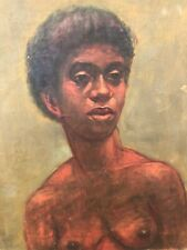 👀 Antique African Modernist Impressionist Oil Painting - Ben Enwonwu?