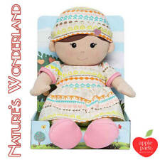 Plush Toddler Girl Doll Soft Toy by Apple Park Organic Toys Gift Infant 32cm