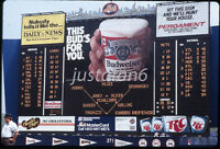 Original 35MM Color Slide New York Mets Late 1980s' Scoreboard