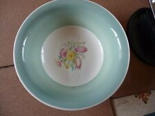 1940's Vintage large Susie Cooper fruit bowl in green Swansea Spray pattern.