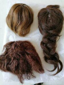 perruques en lot pour  poupée ancienne