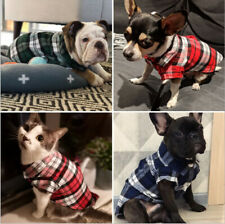 USA Pet Clothes Puppy T Shirt Clothes For Small Dogs Puppy Chihuahua Vest Plaid