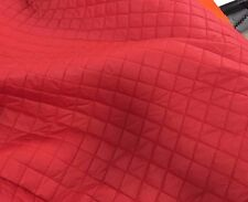 QUILTED FABRIC BOX DESIGN RED Lining Soft Dress Upholstery Material Clothing