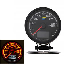 2.5'' 62mm LED Oil Pressure Gauge & Digital Volt Meter Universal 12V Car Gauge