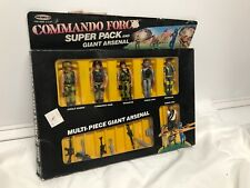 VINTAGE 1986 REMCO COMMANDO FORCE SUPER PACK AND GIANT ARSENAL