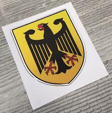 Germany German coat of arms domed emblem decal sticker BMW Mercedes Porsche VW