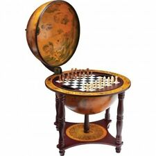 """Chess And Checkers Set 13"""" Globe 57 Pieces Classic Game Room Table Wood Stand US"""