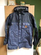 Carhartt Mens Small Water Proof Felt Lined Blue Parka Jacket Coat