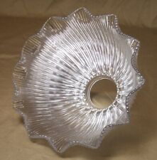 """Antique Holophane Glass Shade Prismatic Vtg Lamp 2 1/4"""" Fitter Dated 1910 #R92"""