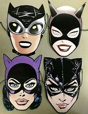 CATWOMAN 80TH ANNIVERSARY PAPER MASK SET OF 4 (NEW) 2020 DC COMICS  BATMAN PROMO