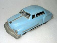 Vintage Old Rare Friction Powered Blue Color Car Tin Toy, Running Condi. Japan?