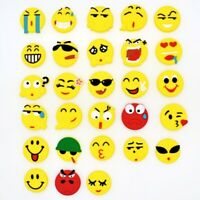 New 28pcs Emoji Expression Shoe Charms Fits Clog/Bracelet Party Favor Gifts