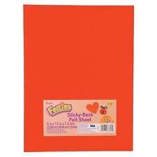 Darice Sticky Back Felt Sheet Red 9 x 12 inches (5-Pack) Flt-0233