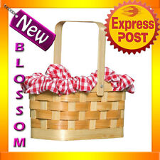 A88 Gingham Basket for Little Red Riding Hood Purse Handbag Bag Party Costume