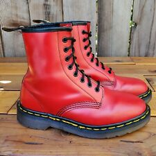 💥Dr. Martens Doc England Rare 90's Vintage Red Leather 1460 Boot UK5 US7💥