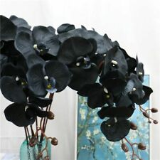 105cm Artificial flower black butterfly orchid silk phalaenopsis wedding home fo