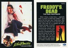 IMPEL A NIGHTMARE ON ELM STREET SAMPLE PROMO CARD (FREDDY'S DEAD) FROM 1991 RARE