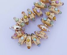 FRISKEY handmade Lampwork Glass Beads,  RAINBOW JEWELS !!!