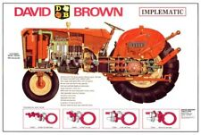 DAVID BROWN 770 780 880 990 IMPLEMATIC CUTAWAY SALES BROCHURE/POSTER ADVERT A3