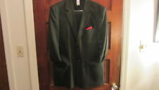 Claiborne Luxe M Gray Pintriped Suit, Jacket Sz 42R, 2 Button, Waist Sz 32R