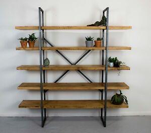 UK Handmade Industrial Shelving - Display Shelf / Records / Bookcase (LARGE)