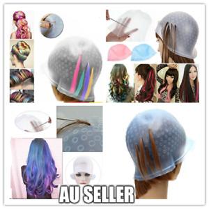 Hair Coloring Highlighting Dye Cap Frosting Tipping Reusable Silicone Salon cap
