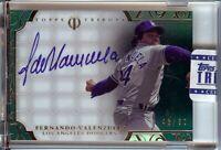 Fernando Valenzuela 2015 Topps Tribute Green Auto Autograph Dodgers #FV 46/50
