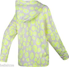 ~STELLA McCARTNEY adidas HOODIE Jacket Sweat Shirt LEOPARD CLIMALITE Fleece~Sz M