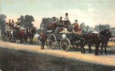 SNY MILITARY ENCAMPMENT SOLDIERS HORSE & CARRIAGES NEW YORK POSTCARD (c. 1908)