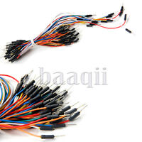 65pcs Solderless Flexible Breadboard Jumper Wires Cable Male to Male arduino TW