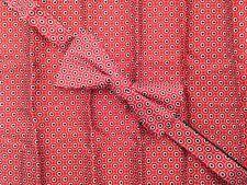 $145 COUNTESS MARA Men RED BLACK SILK BOW TIE PRE-TIED BOWTIE POCKET SQUARE SET