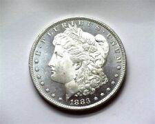 1883-O MORGAN SILVER DOLLAR GEM UNCIRCULATED+ OBVERSE DMPL! NICE COIN!!