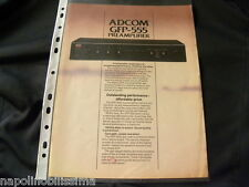 Adcom GFP-555 Original Brochure
