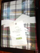 Pottery Barn Denver Plaid 2 Std Pillowcases Flannel