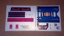 A Transformers premium quality replacement sticker/decal sheet for G1 Soundwave