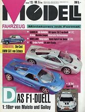 Revista modelo vehículo 5 93 1993 VW Hebmüller escort cosworth mclaren f1