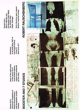 1960s Old Vintage RAUSCHENBERG Booster & 7 Studies Skeleton Gemini Art Prints AD