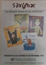 """""""LA BONNE HUMEUR EN AFFICHES"""" Affiche originale entoilée SAVIGNAC 1997 39x54cm"""
