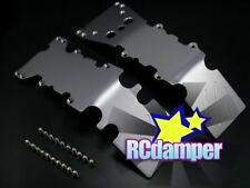 ALUMINUM FRONT+REAR SKID PLATE S TRAXXAS E-MAXX 3903 3905 3908 BRUSHLESS ALLOY