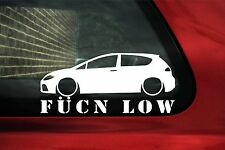 Leon Fukn Low sticker.For (1P) seat leon FR  TFSI / TDi