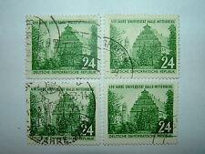 1952 EAST GERMANY DDR HALLE-WITTENBERG UNIVERSITY x 4 VFU (sgE80) CV £6